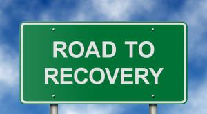 Road to Recovery Sign